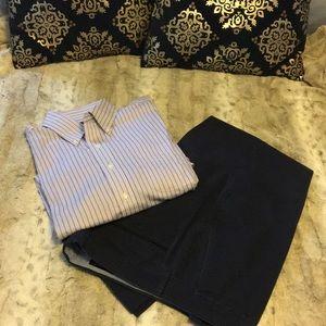 Ralph Lauren Non-Iron Striped Oxford Shirt